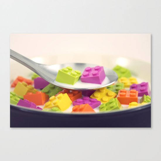 A Balanced Brickfast Canvas Print