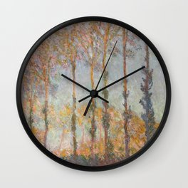 Claude Monet, French, 1840-1926  Poplars on the Bank of the Epte River Wall Clock