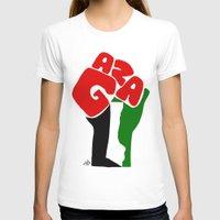 palestine T-shirts featuring GAZA by Osama hajjaj