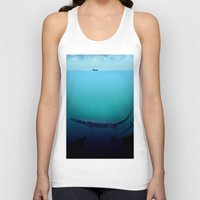 abyss Tank Tops featuring Black abyss by Tony Vazquez