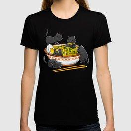 Kawaii Anime Cat Japanese Ramen Noodles T-shirt