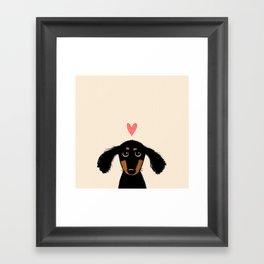 Dachshund Love Framed Art Print