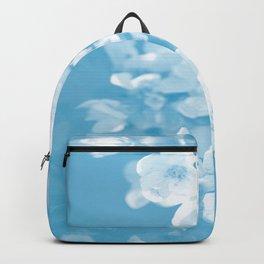 Spring Atmosphere White Flowers Sky Blue Background #decor #society6 #homedecor Backpack