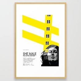 SHE MALE LIVES ON THE 2nd FLOOR Framed Art Print