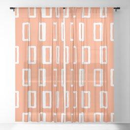 Chad Pattern Orange 22 Sheer Curtain