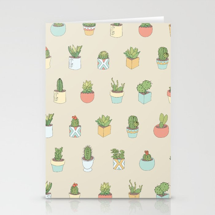 Cute Succulents Stationery Cards