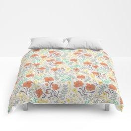 Colorful Peonies Comforters
