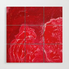 Red #1 Abstract Canvas Art American Wood Wall Art