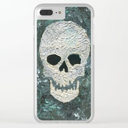 Large Skull Painting Clear iPhone Case