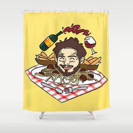 Breadstick Posty Shower Curtain