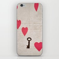 key iPhone & iPod Skins featuring Key by SilverSatellite