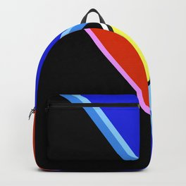 Happy Hues Modern Colorblock Pattern - Black Backpack