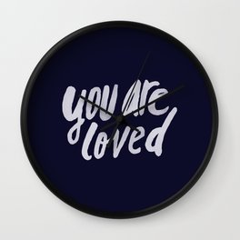 You Are Loved x Navy Wall Clock