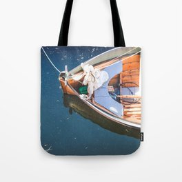 Nautical Fine Art Photography Boat in Water Tote Bag