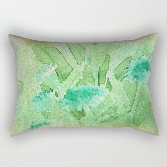Elegant Soft Watercolor Floral  Rectangular Pillow