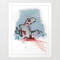 Tundra Zombie Art Print