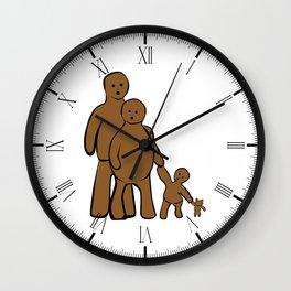 Mud Family Wall Clock