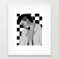 matty healy Framed Art Prints featuring Matty Healy  by carolinemills