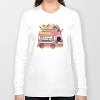 truck Long Sleeve T-shirts featuring IceCream Truck by ShangheeShin