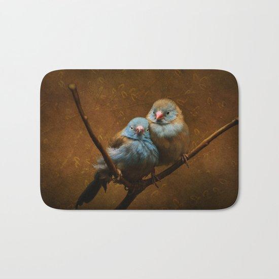 Male and Female Cordon Bleu Canaries Bath Mat