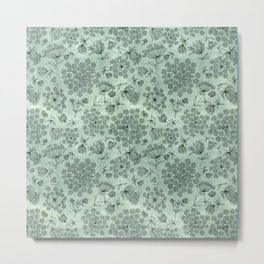 queen anne's lace pattern Metal Print