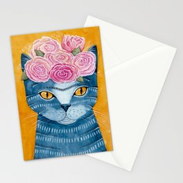 Frida Catlo in Blue Stationery Cards