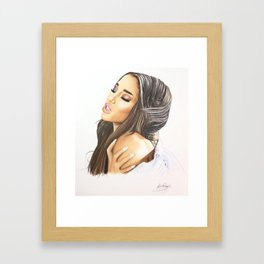 Ariana Into You Drawing Framed Art Print