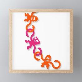 Monkey Business Framed Mini Art Print