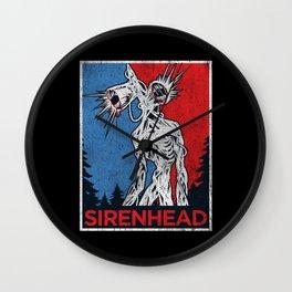 Vote Siren Head  vintage meme  Wall Clock