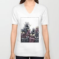 muppet V-neck T-shirts featuring Yip Yip (white background) by Jason Tirendi