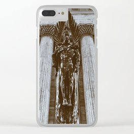 30th Street Station Memorial Statue Clear iPhone Case