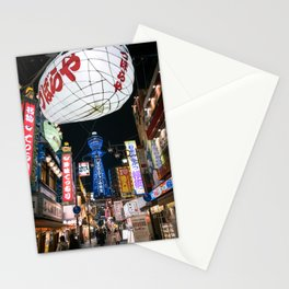 Night in Osaka Stationery Cards
