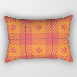 Spring Star Floral Plaid - Fiesta Rectangular Pillow