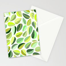 Leaf Green Stationery Cards