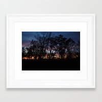 rileigh smirl Framed Art Prints featuring Rainbow Sunset by Rileigh Smirl