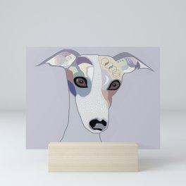 Whippet in Denim Colors Mini Art Print