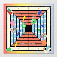 tennis Canvas Prints featuring Tennis by Kamolsky