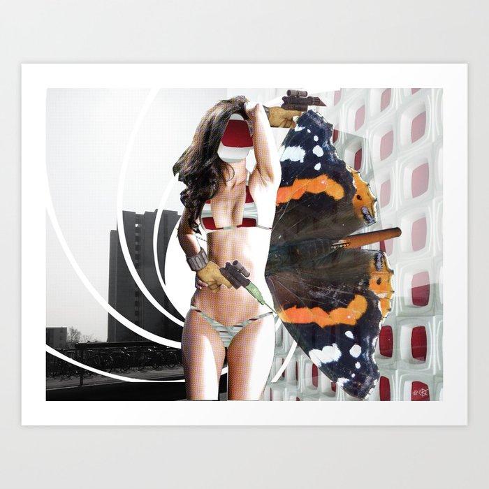 Fleisches Lust 11 - Collage Art Print