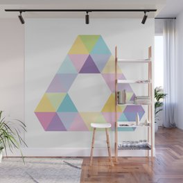 Fig. 013 Colorful Triangle Wall Mural