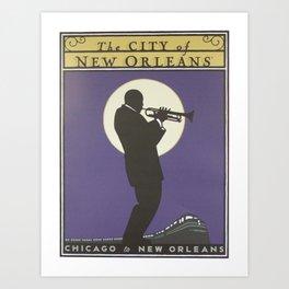 Vintage poster - City of New Orleans Art Print