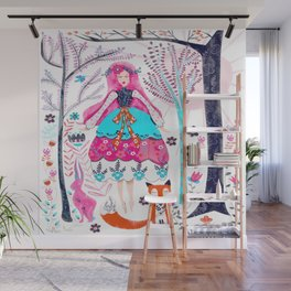 In the Forest, Where I am Happy Wall Mural