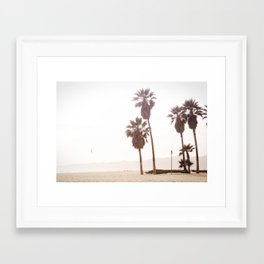 Vintage Summer Palm Trees Framed Art Print