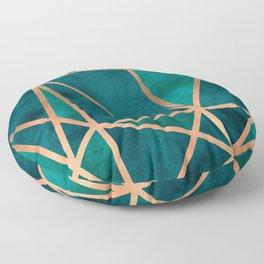 Copper & Emerald Geo Floor Pillow