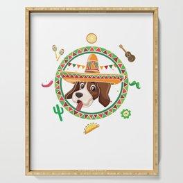 Cinco De Mayo Beagle Animal Pets Taco Mexico Chili Mexican Nachos Gift Serving Tray