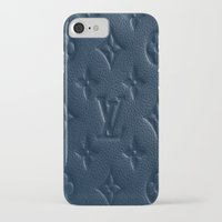lv iPhone & iPod Cases featuring Blue LV by I Love Decor