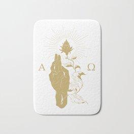 Alpha and Omega Bath Mat