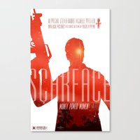 scarface Canvas Prints featuring Scarface by Duke Dastardly