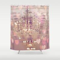 chandelier Shower Curtains featuring Mayflower Chandelier by kelly*n photography