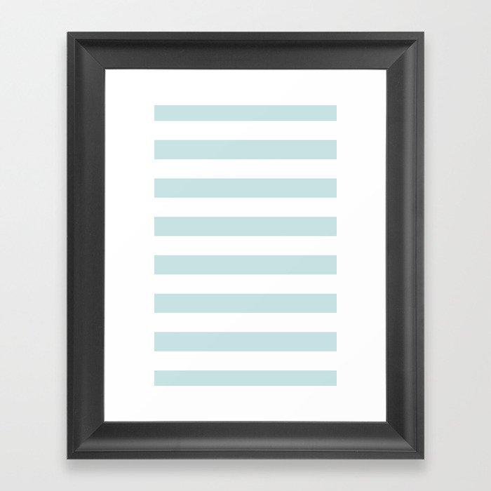 Ocean Blue Nautical Stripes Artsy Vintage Framed Art Print