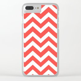Tart Orange - pink color  - Zigzag Chevron Pattern Clear iPhone Case